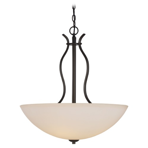 Nuvo Lighting Nuvo Lighting Dillard Aged Bronze Pendant Light with Bowl / Dome Shade 60/5917