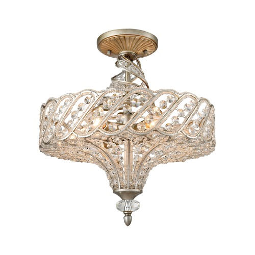 Elk Lighting Elk Lighting Cumbria Aged Silver Semi-Flushmount Light 11923/6