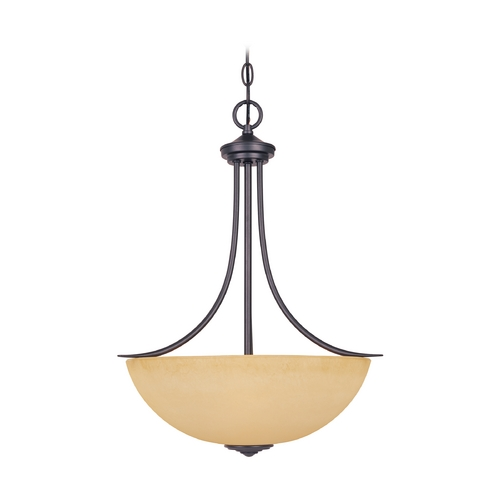 Designers Fountain Lighting Pendant Light with Amber Glass in Oil Rubbed Bronze Finish 83331-ORB
