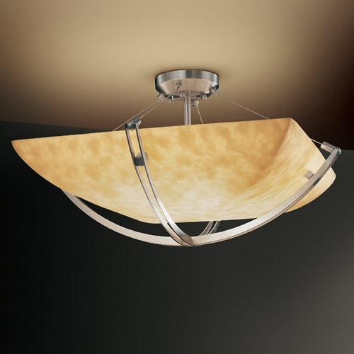 Justice Design Group Justice Design Group Clouds Collection Semi-Flushmount Light CLD-9711-25-NCKL