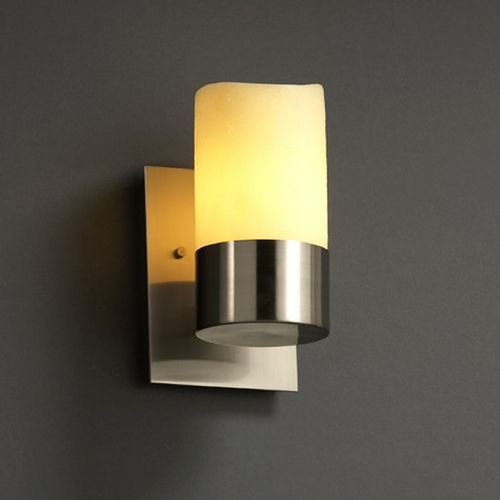 Justice Design Group Justice Design Group Candlearia Collection Sconce CNDL-8761-14-AMBR-NCKL