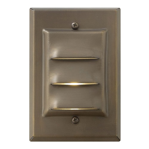 Hinkley Lighting Modern LED Recessed Deck Light in Matte Bronze Finish 1542MZ-LED