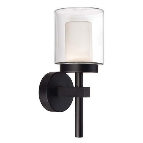 Modern Forms by WAC Lighting Modern Forms Deco Black LED Outdoor Wall Light WS-W1815-BK