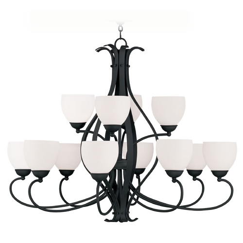 Livex Lighting Livex Lighting Brookside Black Chandelier 4779-04