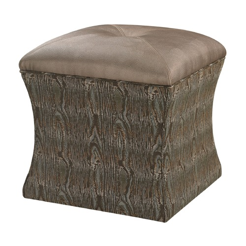 Sterling Lighting Luxe Ottoman - Green 139-011