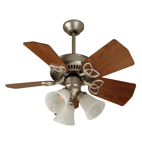 Craftmade Lighting Craftmade Lighting Piccolo Brushed Satin Nickel Ceiling Fan with Light K10740