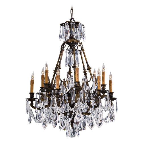 Metropolitan Lighting Crystal Chandelier in Oxidized Brass Finish N9066