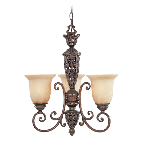 Designers Fountain Lighting Chandelier with Beige / Cream Glass in Burnt Umber Finish 97583-BU