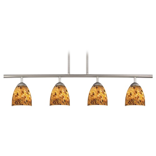 Design Classics Lighting Design Classics Axel Fuse Satin Nickel Island Light with Bell Shade 718-09 GL1005MB