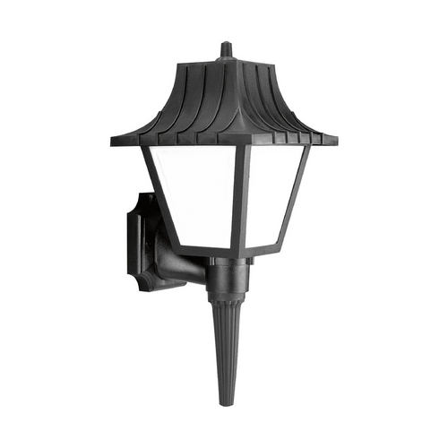 Progress Lighting Progress Outdoor Wall Light with White in Black Finish P5843-31WB