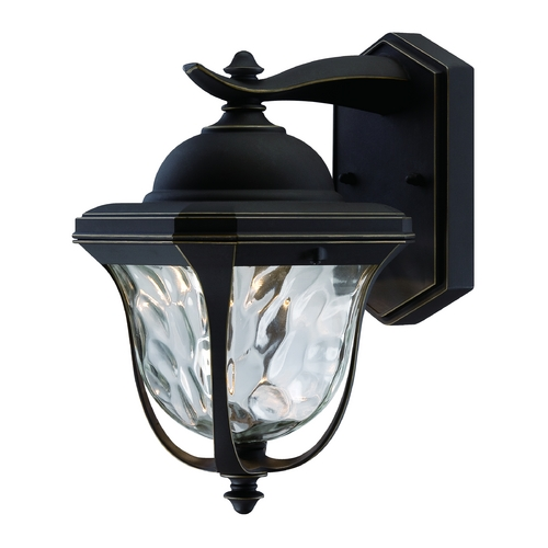 Designers Fountain Lighting LED Outdoor Wall Light with Clear Glass in Aged Bronze Patina Finish LED21921-ABP