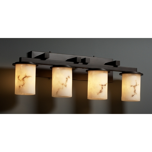 Justice Design Group Justice Design Group Lumenaria Collection Bathroom Light FAL-8774-10-DBRZ