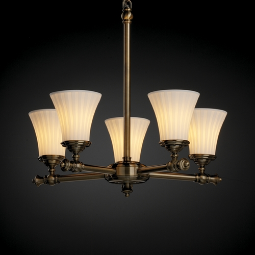 Justice Design Group Justice Design Group Limoges Collection Chandelier POR-8520-20-WFAL-ABRS
