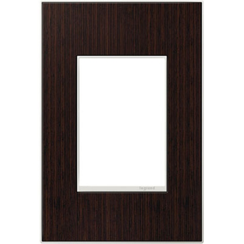 Legrand Adorne Legrand Adorne Wenge Wood 1-Gang 3-Module Switch Plate AWM1G3WE4