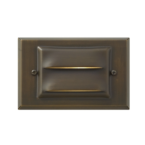 Hinkley Lighting Modern LED Recessed Deck Light in Matte Bronze Finish 1546MZ-LED