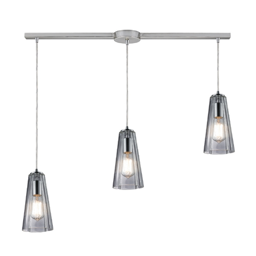 Elk Lighting Multi-Light Pendant Light with Clear Glass and 3-Lights 60058-3L