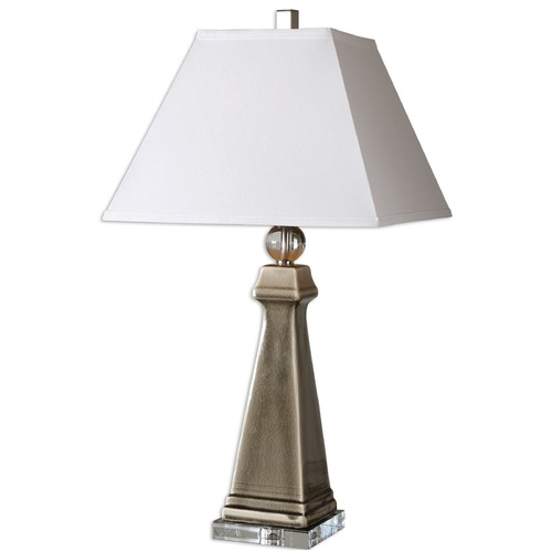 Uttermost Lighting Uttermost Colobraro Gray Ceramic Lamp 26495