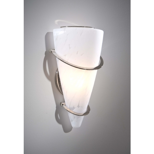 Holtkoetter Lighting Holtkoetter Modern Sconce Wall Light with White Glass in Polished Nickel Finish 2969 PN SCH