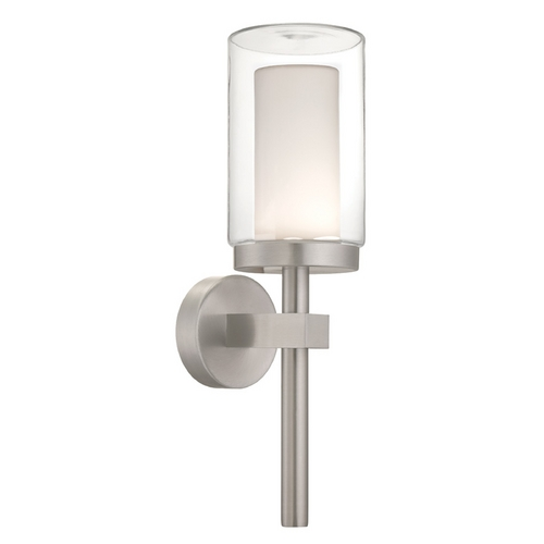 Modern Forms by WAC Lighting Modern Forms Deco Brushed Aluminum LED Outdoor Wall Light WS-W1821-AL