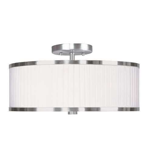 Livex Lighting Livex Lighting Park Ridge Brushed Nickel Semi-Flushmount Light 6365-91