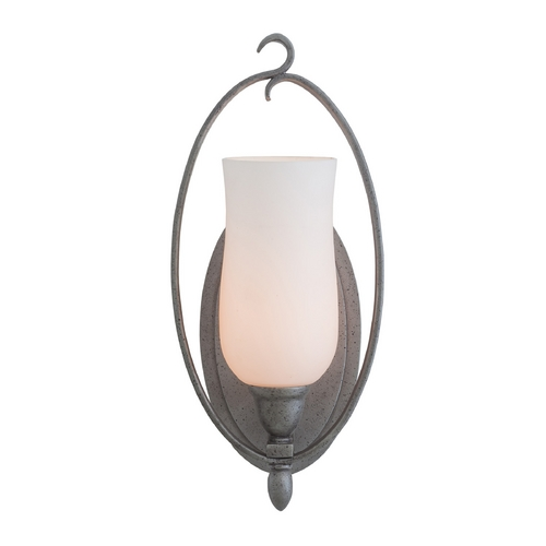 Kalco Lighting Kalco Lighting Mateo Flecked Iron Sconce 7231FI/OPAL