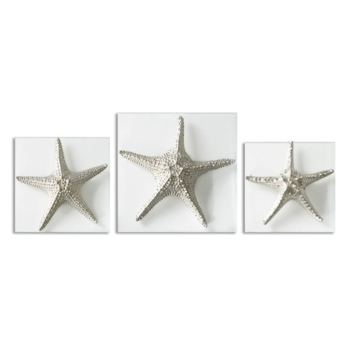 Uttermost Lighting Uttermost Silver Starfish Wall Art, Set of 3 01129