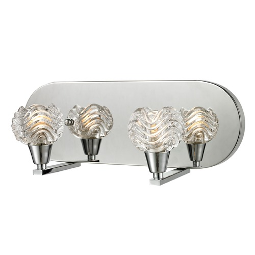 Elk Lighting Elk Lighting Crystal Wave Polished Chrome Bathroom Light 11801/2