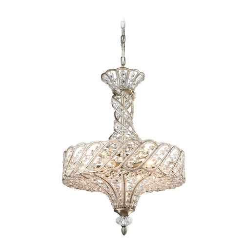 Elk Lighting Elk Lighting Cumbria Aged Silver Pendant Light 11924/6