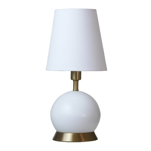 House of Troy Lighting House of Troy Geo White with Weathered Brass Accents Accent Lamp GEO106
