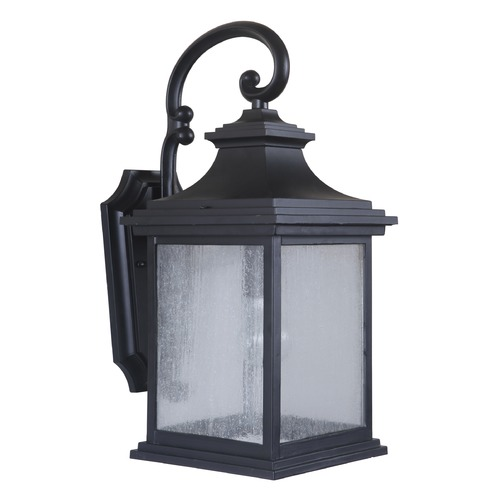 Craftmade Lighting Seeded Glass Outdoor Wall Light Black Craftmade Lighting Z3214-11