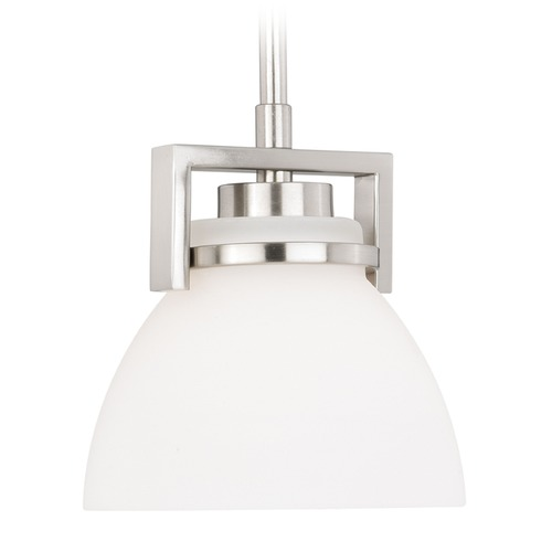 Vaxcel Lighting Metropolis Satin Nickel Mini-Pendant Light with Bowl / Dome Shade by Vaxcel Lighting P0202