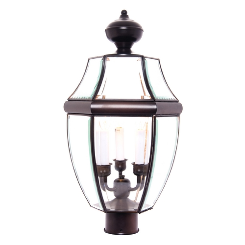Maxim Lighting Post Light with Clear Glass in Burnished Finish 6098CLBU