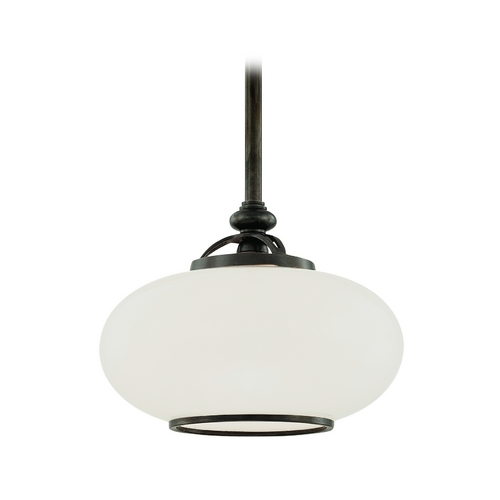 Hudson Valley Lighting Pendant Light with White Glass in Old Bronze Finish 9815-OB
