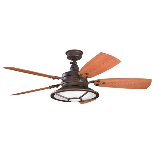 Kichler Lighting Kichler Ceiling Fan with Light Kit in Bronze Finish 310102TZP