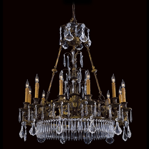 Metropolitan Lighting Crystal Chandelier in Brass Finish N9067