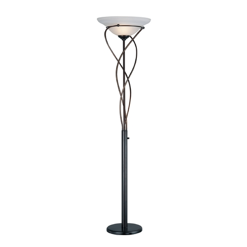 Lite Source Lighting Lite Source Lighting Majesty Bronze Torchiere Lamp with Bell Shade LS-9640D/BRZ