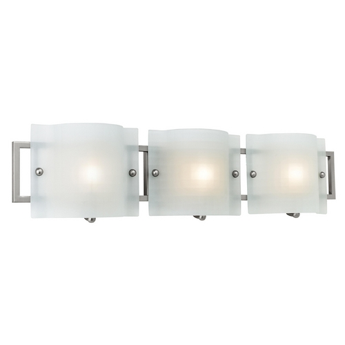 Access Lighting Modern Bathroom Light with White Glass in Brushed Steel Finish 53313-BS/CKF