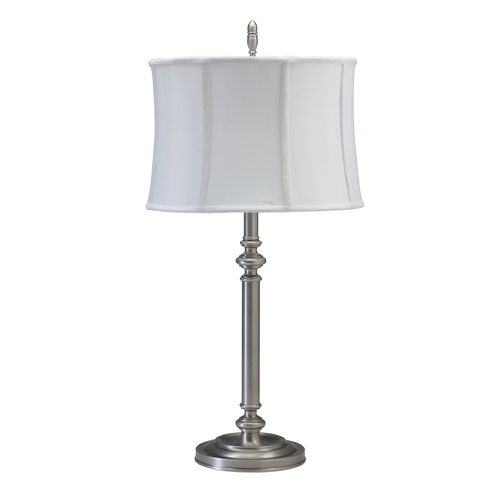 House of Troy Lighting Table Lamp with White Shade in Antique Silver Finish CH850-AS