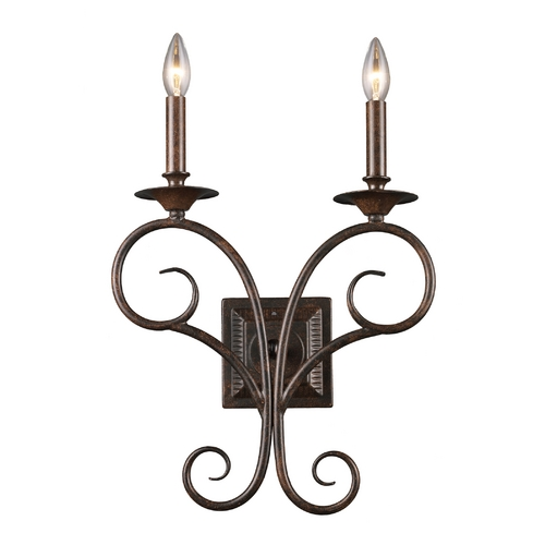 Elk Lighting Sconce Wall Light in Antique Bronze Finish 15040/2