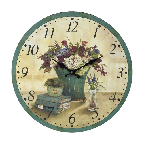 Sterling Lighting Floral Decoupage Wall Clock 118-033