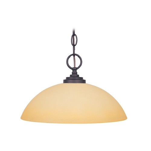 Designers Fountain Lighting Pendant Light with Beige / Cream Glass in Oil Rubbed Bronze Finish 83232-ORB