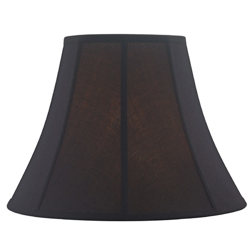 Design Classics Lighting Black Bell Fabric Lamp Shade with Piping and Spider Assembly SH9865