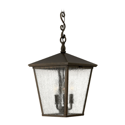 Hinkley Lighting LED Outdoor Hanging Light with Clear Glass in Regency Bronze Finish 1432RB-LED