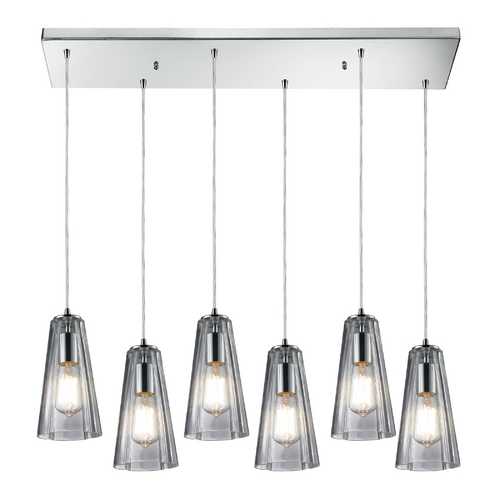Elk Lighting Multi-Light Pendant Light with Clear Glass and 6-Lights 60058-6RC