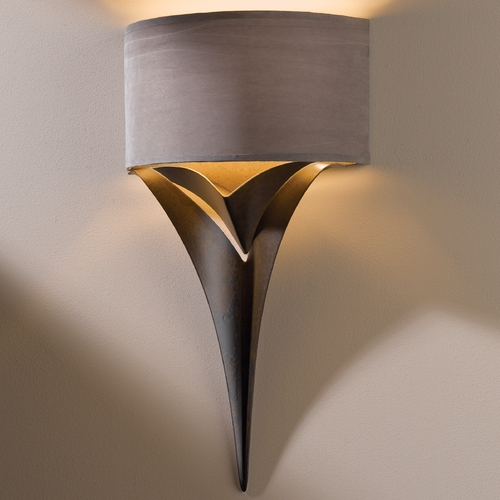 Hubbardton Forge Lighting Hubbardton Forge Lighting Calla Bronze Sconce 205315-05-464
