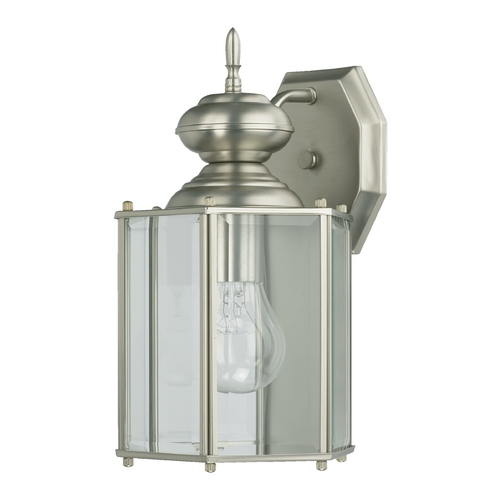 Quorum Lighting Quorum Lighting Lantern Satin Nickel Outdoor Wall Light 717-65