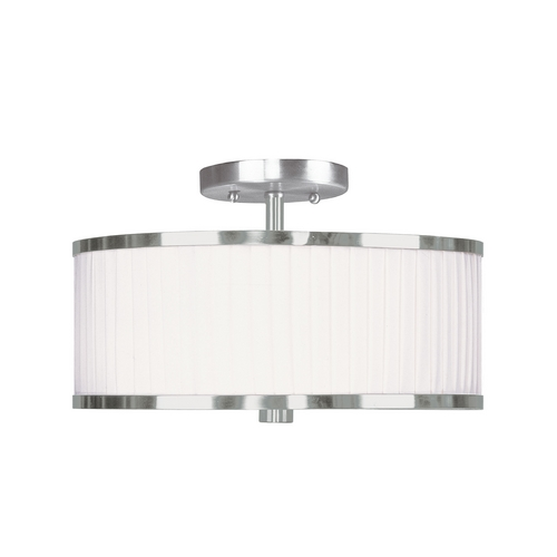 Livex Lighting Livex Lighting Park Ridge Brushed Nickel Semi-Flushmount Light 6364-91
