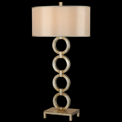 Fine Art Lamps Fine Art Lamps Portobello Road Platinized Silver Table Lamp with Oval Shade 420210ST