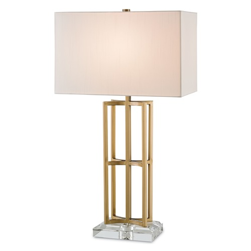 Currey and Company Lighting Currey and Company Devonside Coffee Brass/clear Table Lamp with Rectangle Shade 6801