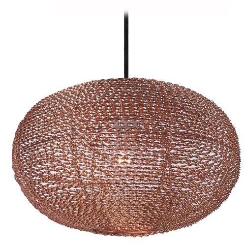 Maxim Lighting Maxim Lighting Twisp Copper Pendant Light with Oblong Shade 12192CP
